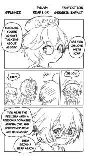 Wholesome Sucrose and Albedo Genshin Impact Fan Comic