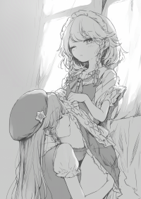 Touhou Project - Meiling x Sakuya Tummy Kisses